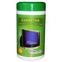 Салфетки для оргтехники+ТВ Арника в банке 100шт 30666