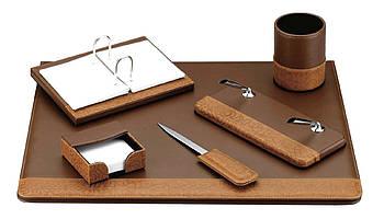 Настольный набор кожзам Optima Cabinet 6 предметов, коричневый O36471