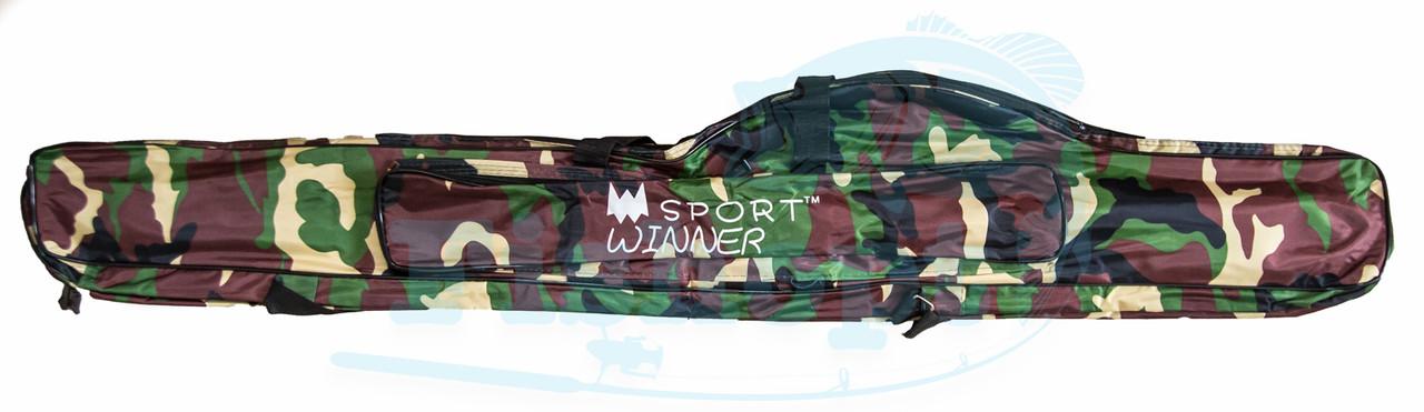 Чехол для удочки Camou с карманом под катушку Sport Winner 130см