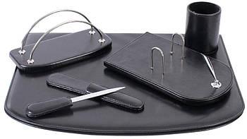 Настольный набор кожзам Optima Cabinet 6 предметов, черный O36479