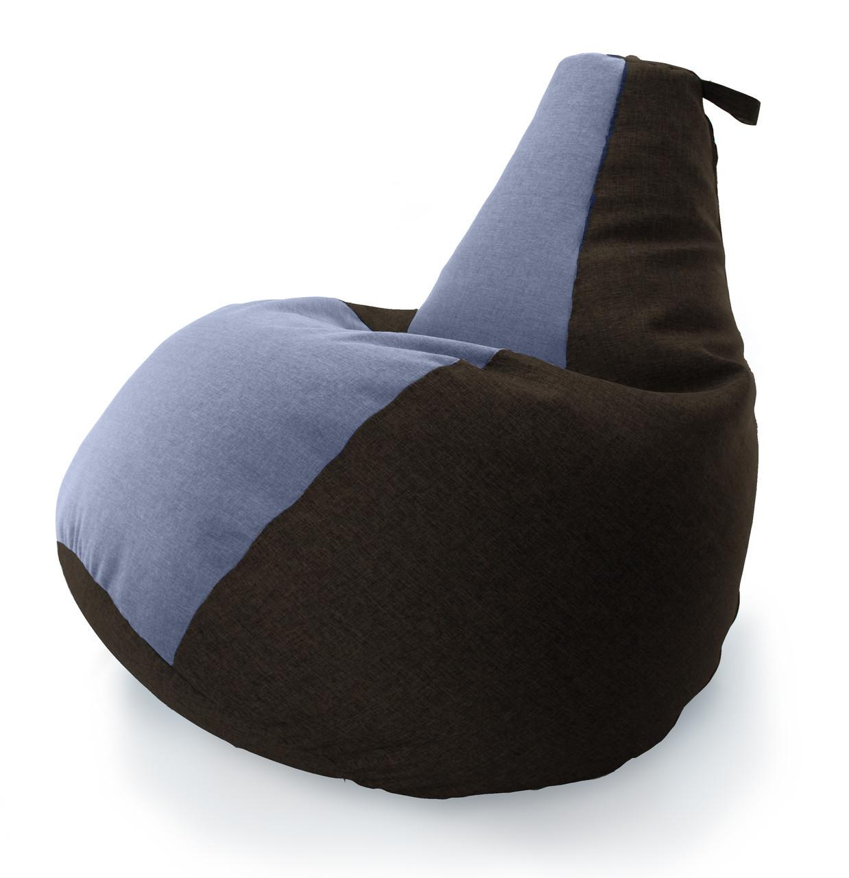 Величезне Крісло-мішок груша Комбі. Мікро-рогожка 100*140 див.