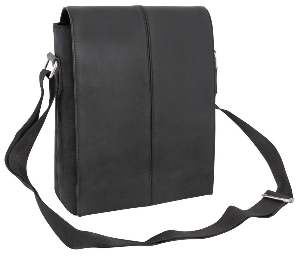 Сумка через плечо кожзам Optima Cabinet 24*28*7,5см черная O97267-01