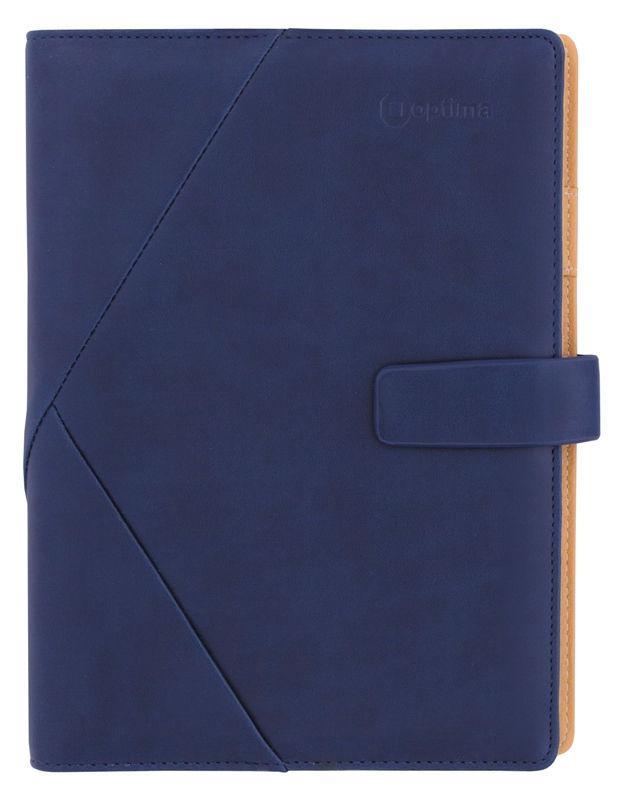 Органайзер со сменным блоком 185*235 OPTIMA Cabinet с застежкой, синий O27115