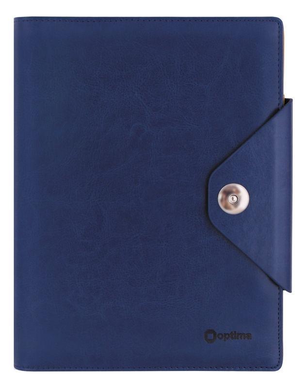 Органайзер со сменным блоком 185*235 OPTIMA Cabinet на кнопке, синий O27119