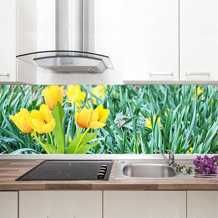 """Фартук на кухню / Скинали """"Желтые тюльпаны"""", фото 2"""