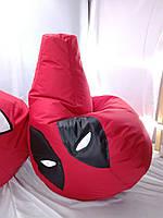 Велике Крісло-мішок, груша ДэдПул. Оксфорд 90*130 див. З додатковим чохлом, фото 1