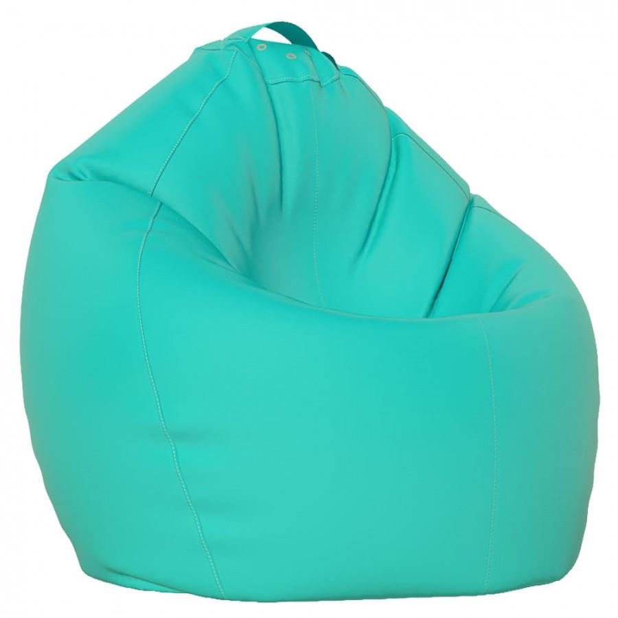 """Овальное кресло - мешок  груша. Эко-кожа """"Зевс"""" 90*130 см"""