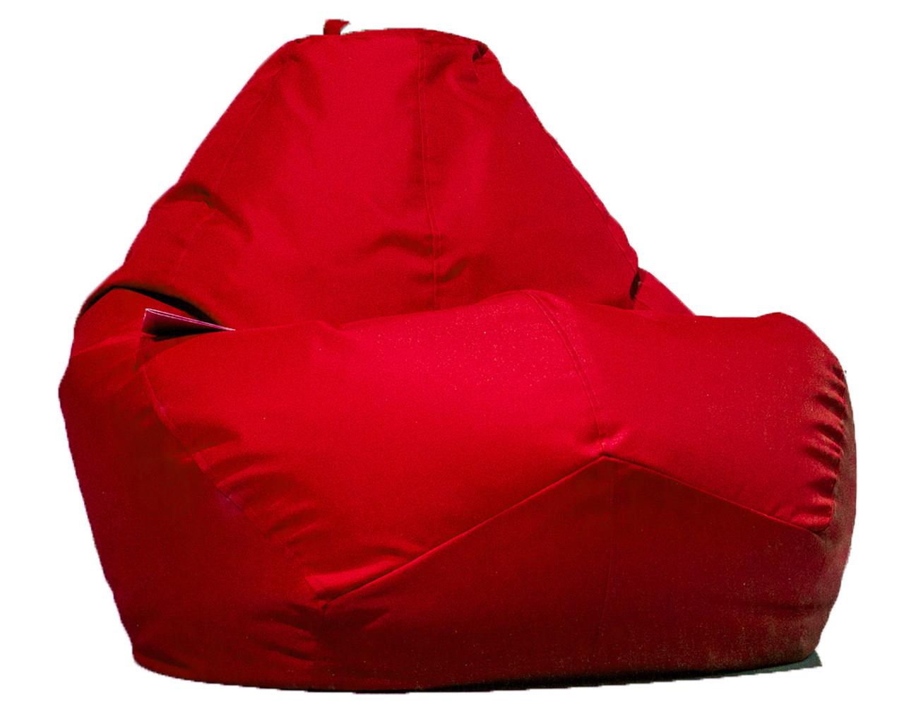 Большое овальное кресло - мешок  груша  Оксфорд 90*130 см. С дополнительным чехлом