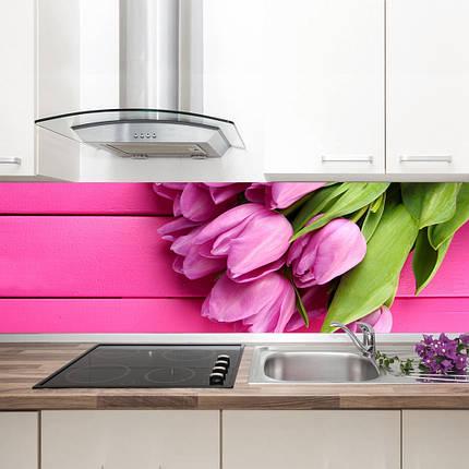 """Фартук на кухню / Скинали """"Розовые тюльпаны"""", фото 2"""
