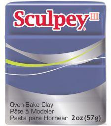 Глина полимерная Sculpey III Синяя сливовая 57г 355