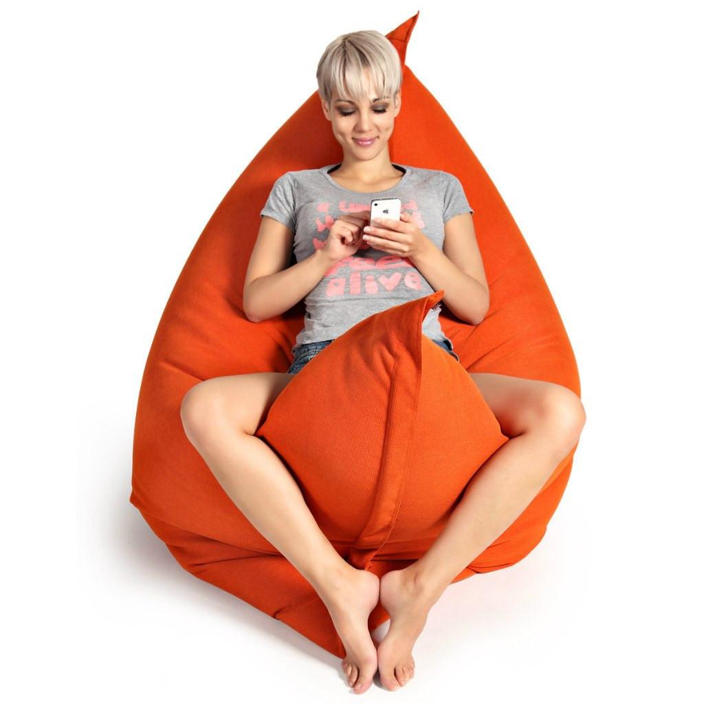 Кресло-мешок, кресло-мат, подушка.  Микро-рогожка 125*140см. С дополнительным чехлом