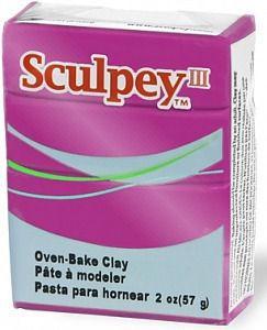 Глина полимерная Sculpey III Фуксия перламутровая 57г 1112