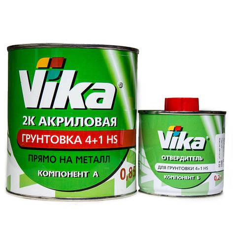 Грунт акриловый 4+1 HS Vika Вика (комплект 1,42кг) Серый, фото 2