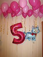 """Набор воздушных шариков для дня рождения """"Любимой дочке"""""""