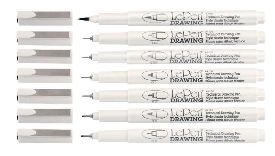 Ручка капиллярная Marvy 0,05мм 4600-S Черная