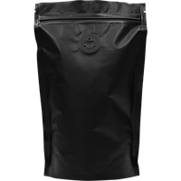 Пакет Дой-пак Черный с zip замком и клапаном 130*200 (32+32)