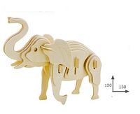 Деревянный 3D пазл животные.