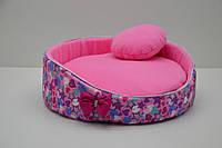 Лежак для котов и собак Звездочка розовый