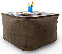 Крісло мішок, журнальний столик, безкаркасний столик. Мікро-рогожка 45см. З додатковим чохлом, фото 1