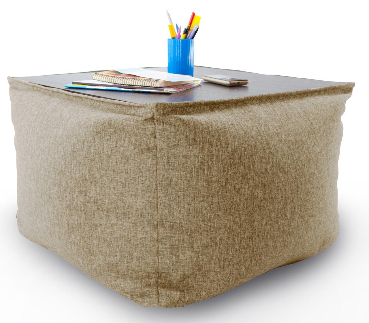 Бескаркасный столик в ткане Микро-рогожка 45см.