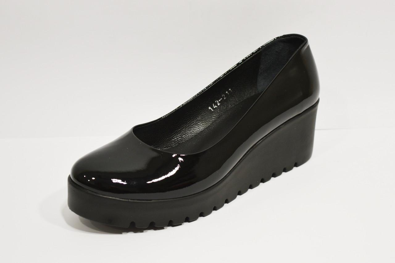 Туфли лакированные на платформе Estomod 142