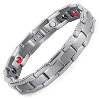 Магнитный браслет - Вестерн Серебристый 4 в 1