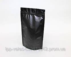 Пакет Дой-пак  с zip замком 100 г  Черный 130х200 (32+32)