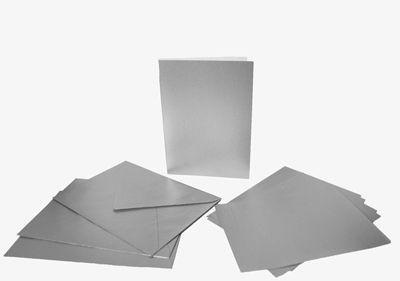 Набор заготовок для открыток А6 Heyda 220г/м 5шт с конвертом, Серебрянный