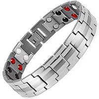 Магнитный браслет - Топ Люксор серебристый 4 в 2