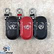 Ключница карманная (кожаная, черная, на молнии, с карабином, с кольцом), логотип авто Acura (Акура) , фото 2