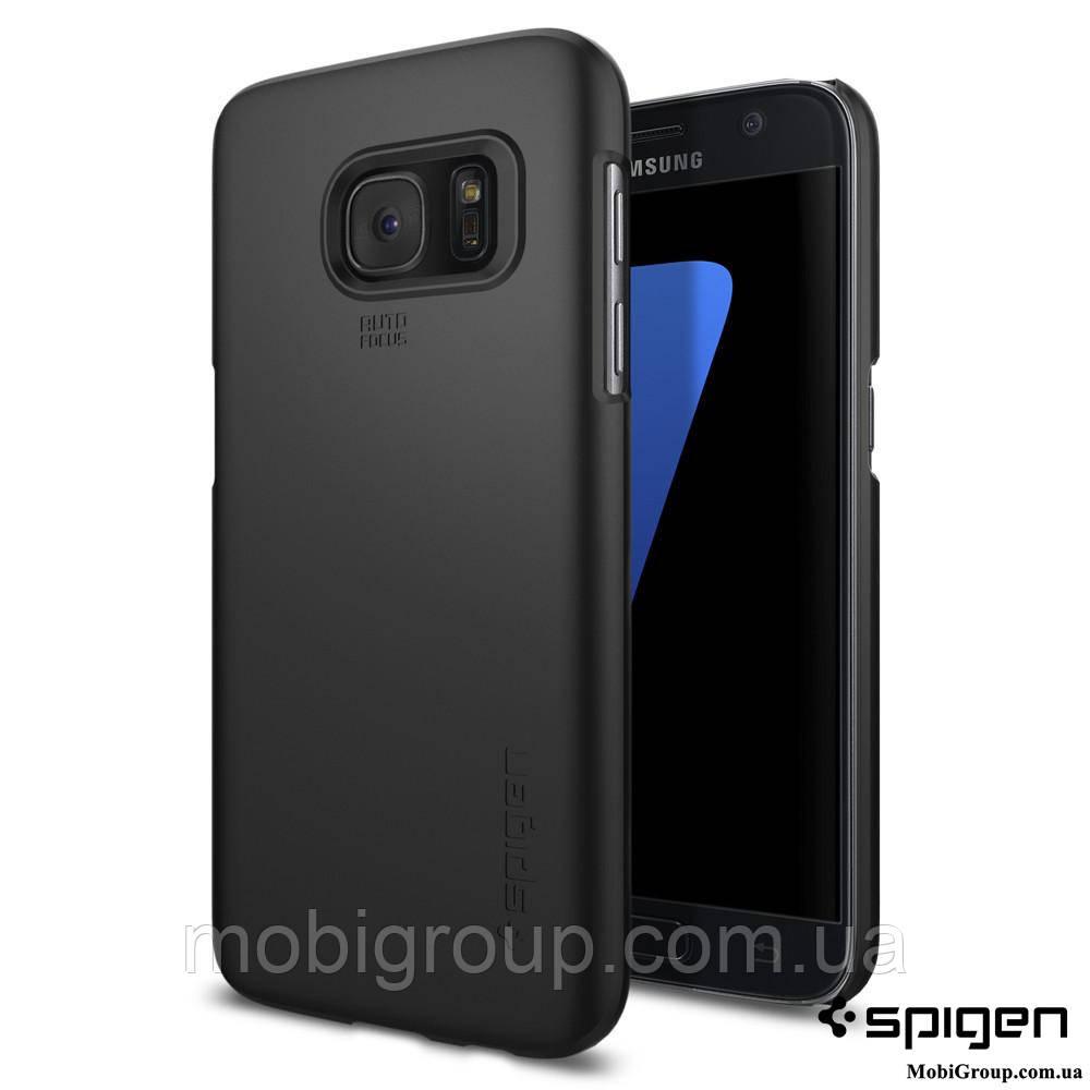 Чехол Spigen для Samsung S7 Thin Fit, Black