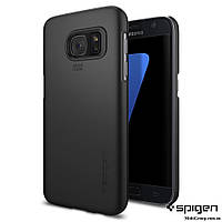 Чехол Spigen для Samsung S7 Thin Fit, Black , фото 1