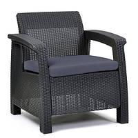 Кресло пластиковое Corfu Duo, серое