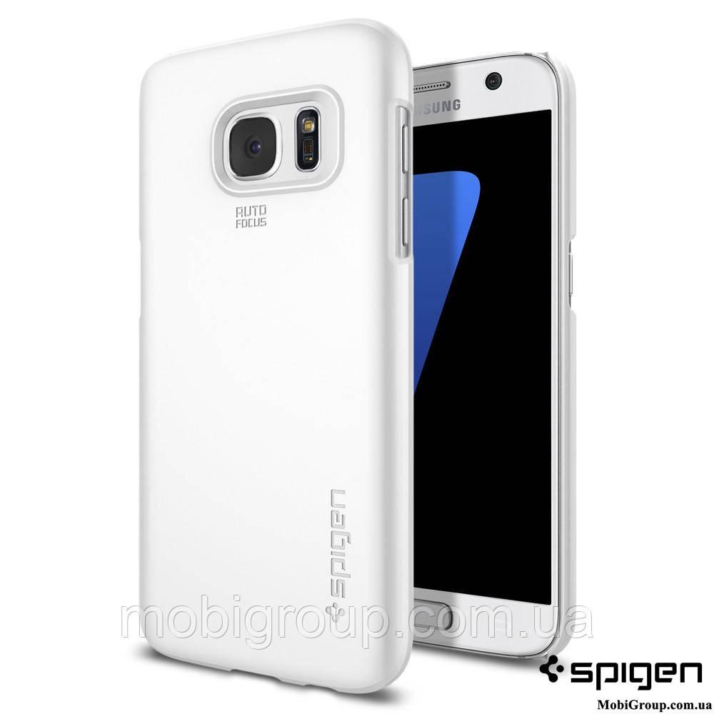 Чехол Spigen для Samsung S7 Thin Fit, Shimmery White
