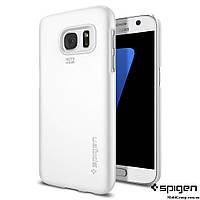 Чехол Spigen для Samsung S7 Thin Fit, Shimmery White, фото 1