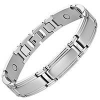 Магнитный браслет от давления - Делюкс серебристый 4 в 1