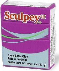 Глина полимерная Sculpey III Фиолетовая 57г 515
