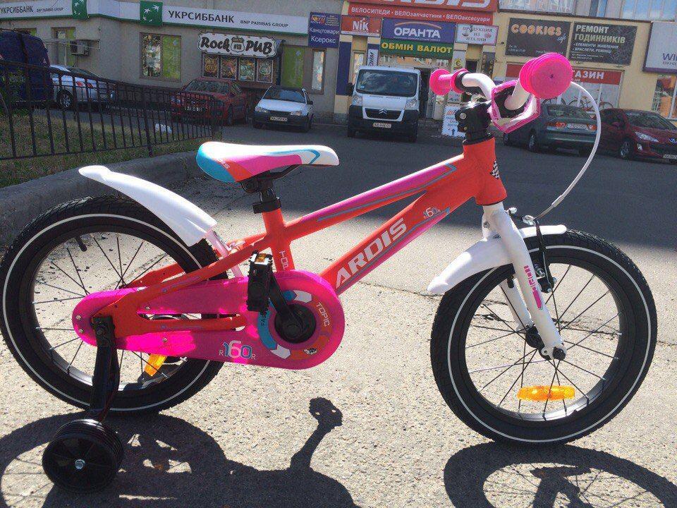 """Детский велосипед ARDIS Topic ST 16""""  Розовый/Белый"""