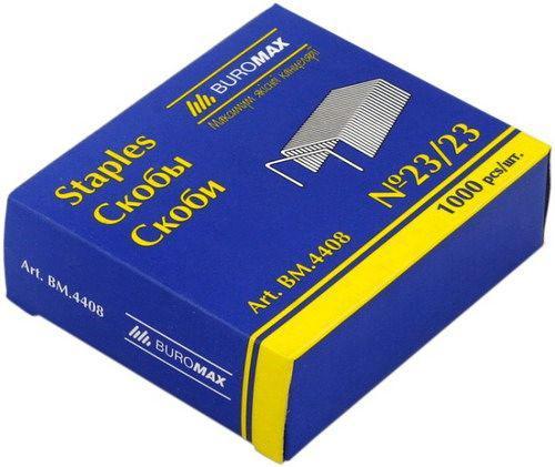 Скобы для степлера №23/23 BUROMAX 4408