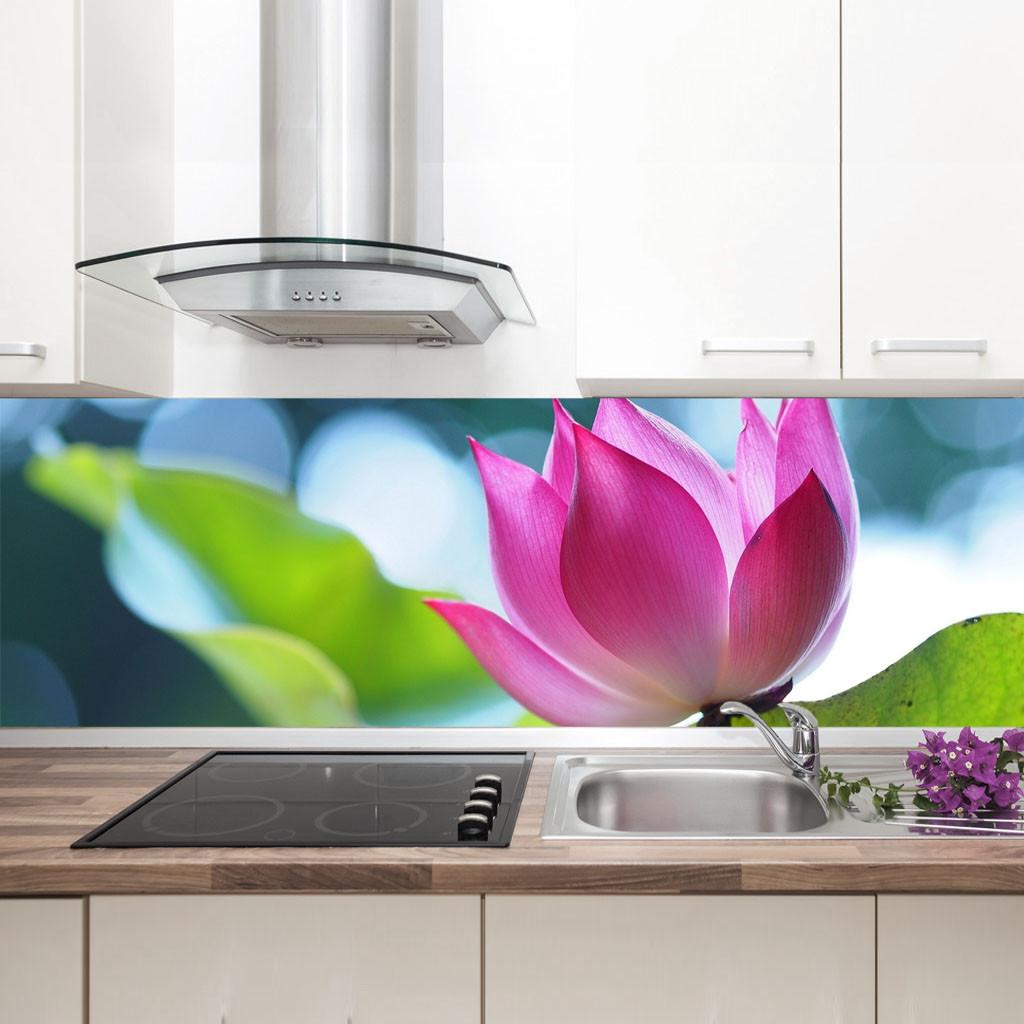 "Фартук на кухню / Скинали ""Розовый цветок"""