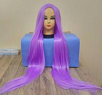 Парик ровный аниме 100см с пробором фиолетовый