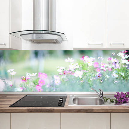 "Фартук на кухню / Скинали ""Цветущая поляна"", фото 2"