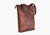 """Жіноча шкіряна сумка """"Roomy""""  ручної роботи, натуральна шкіра, кожаная сумка, сумка-шопер"""