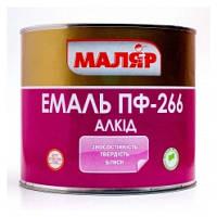 """Эмаль ПФ-266 """" МАЛЯР """" красно-коричневый ( 2,4 кг )"""