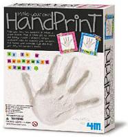 Набор для творчества 4M гипс Отпечаток руки с рамочкой 4556