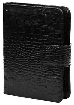 Обложка кожаная для ежедневника 12*17см Canpellinі 552 Кроко черный