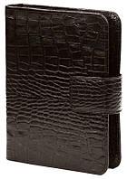 Обложка кожанная для ежедневника 12*17см Canpellinі 552 Кроко коричневый