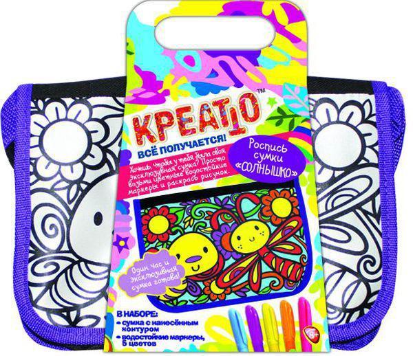 Набор для творчества КРЕАТТО Роспись сумки СОЛНЫШКО 21896