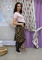 Юбка с принтом для беременных ДЕЛОВАЯ МАМА (черная, размер L)