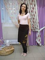 Юбка шерстяная для беременных ДЕЛОВАЯ МАМА (коричневая, размер L)